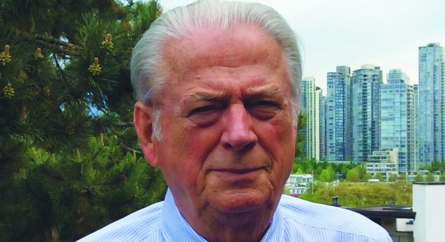 Bent Ewald har siden 2014 doneret mere end fem millioner til Dansk Folkeparti, selvom han flyttede fra Danmark til Canada for 60 år siden.