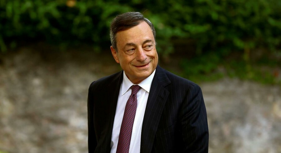 Den europæiske centralbankchef, Mario Draghi, holder tale til centralbankmødet i Jackson Hole fredag.
