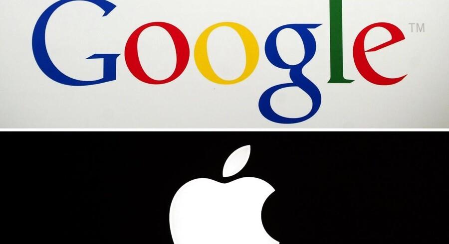 En række helt skæve telegrammer fra den amerikanske nyhedsformidler Dow Jones sendte kortvarigt Apple i armene på Google.