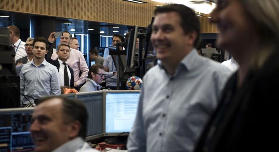 Nordeas private trading kontor på valgmorgenen, da Donald Trump blev valgt som USA's 45. præsident.