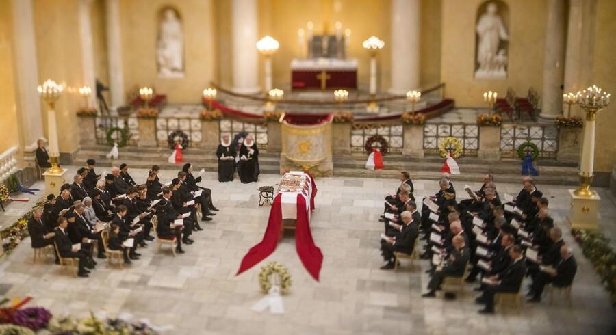 DR havde eneret på at sende, da Hans Kongelige Højhed Prins Henrik bliver bisat fra Christiansborg Slotskirke.