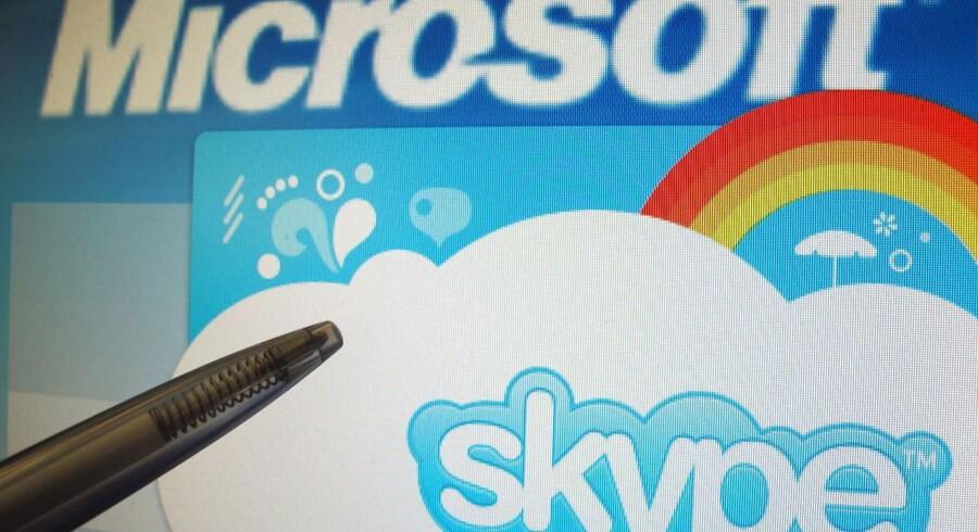 Microsoft, som købte det dansk-svenske internettelefoniprogram Skype i 2011, lukker nu også sit kontor i Sverige. Arkivfoto: Franz-Peter Tschauner, EPA/Scanpix