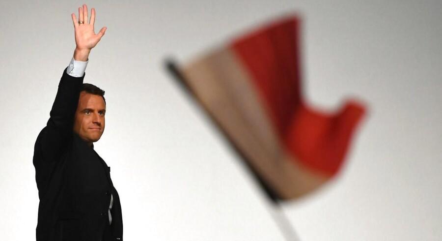 Emmanuel Macrons sejr i første valgrunde til det franske præsidentvalg har lunet på aktiemarkederne