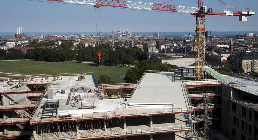 Der er i marts kommet vand ind flere steder i den nye nordfløjs-bygning på Rigshospitalet.