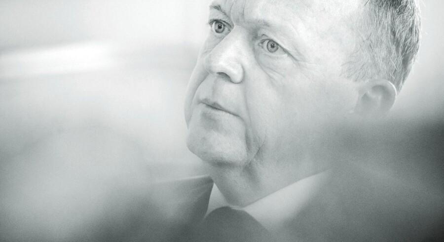 Portræt af Statsminister Lars Løkke Rasmussen (V).