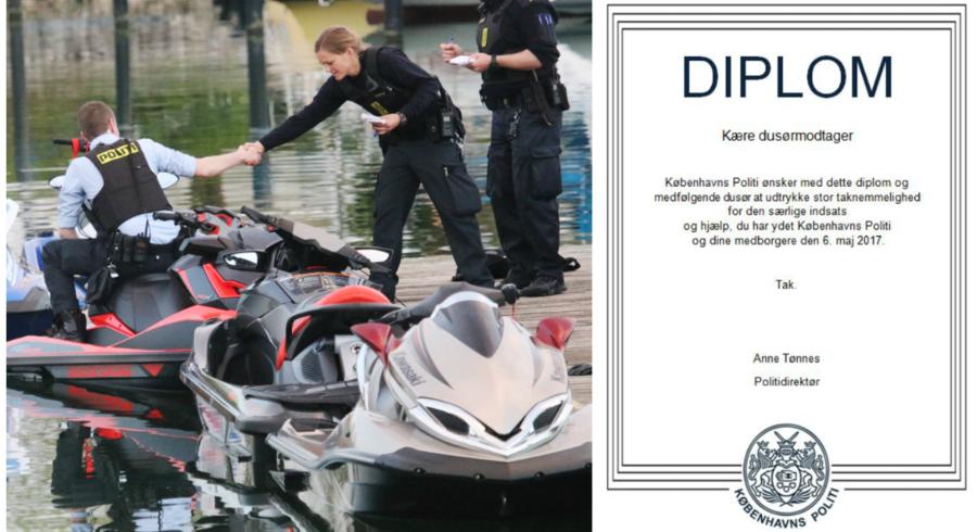 Blandt modtagerne er tre personer, som udviste resolut heltemod i forbindelse med vandscooter-ulykken sidste år.