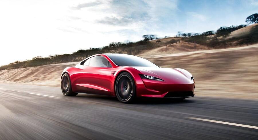 PR-foto fra Tesla af den nye Roadster-model.