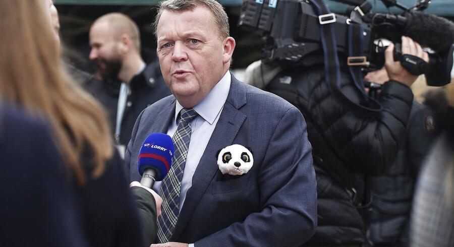 Statsminister Lars Løkke Rasmussen er i Zoo for at tage første spadestik til havens nye pandaanlæg. Torsdag den 16. November 2017.