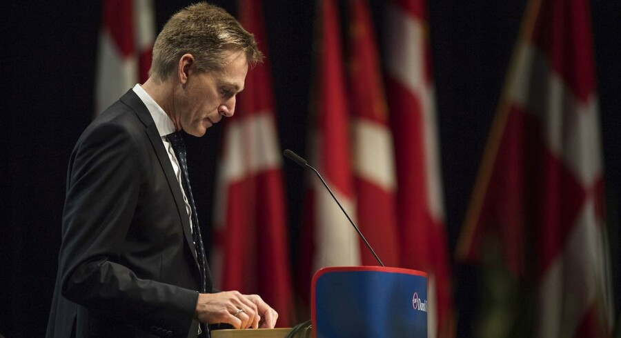 Formand Kristian Thulesen Dahl afgiver formandens beretning til Dansk Folkepartis årsmøde 2017. Dansk Folkeparti holder deres årsmøde nummer 22 i MCH Herning Kongrescenter.