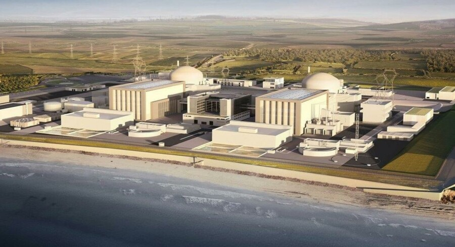 Det eksisterende kraftværk Hinkley skal udvides med en ny atomkraft-del. Scanpix/Ho