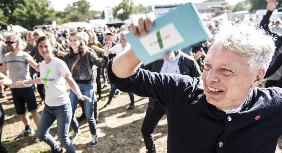 Alternativets politiske leder, Uffe Elbæk, ses her ved Folkemødet 2016.