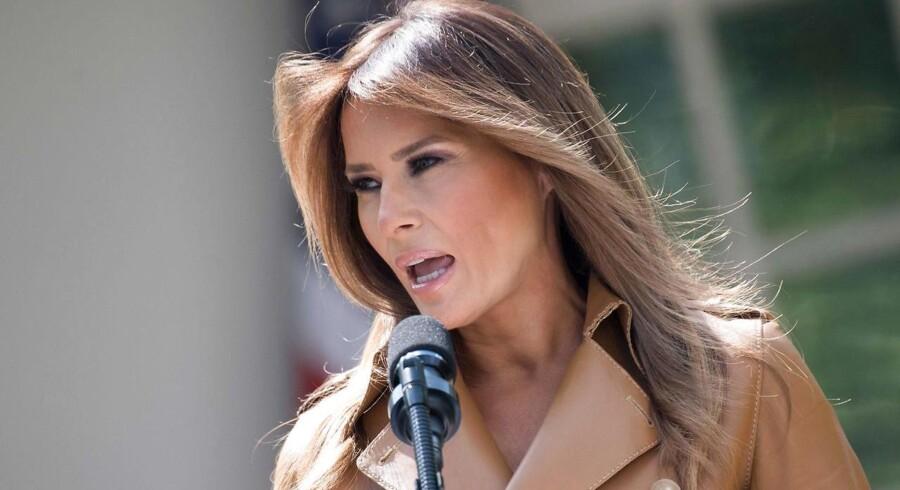 Melania Trump har som USAs førstedame gjort børns forhold og velfærd til sin hjertesag – og nu går hun overraskende ind i sagen om adskillelsen af børn og deres forældre ved den amerikansk-mexicanske grænse. Arkivfoto: Jim Watson/AFP/Ritzau Scanpix
