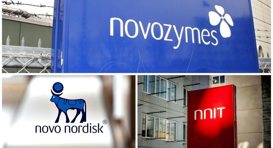 NovoZymes, Novo Nordisk og NNIT.