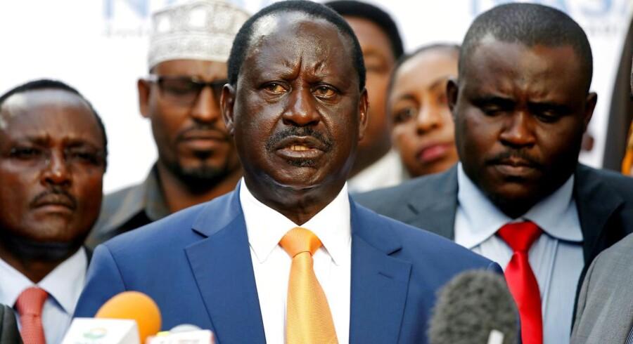 Odinga sagde tirsdag, at valget 26. oktober ikke bliver frit og retfærdigt. Han gentog sine opfordringer til, at ledelsen i valgkommissionen skiftes ud.