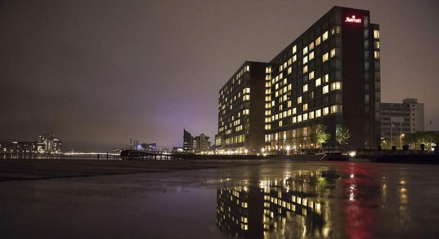 Copenhagen Marriott Hotel ved Kalvebod Brygge i København danner rammerne for fundraisingmiddagen for Løkkefonden. Foto: Søren Bidstrup