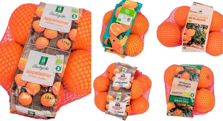 Ingen af de fem appelsiner i testen får seks stjerner, men dommerne finder alligevel frem til den mest saftige og dejligste appelsin.