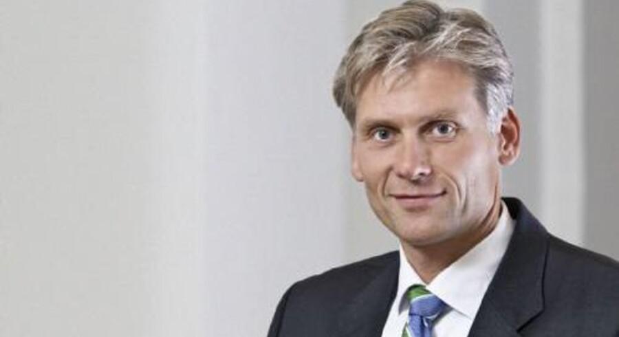 Danske Banks topchef, Thomas F. Borgen, kan se tilbage på et år, hvor der kom flere kunder i butikken. Arkivfoto. Free/Danske Bank