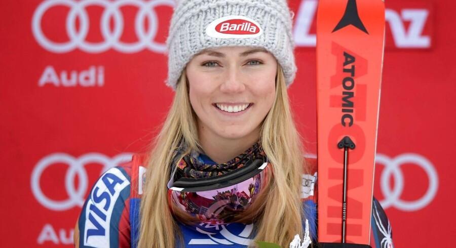 Mikaela Shiffrin ligner et godt bud på en samlet vinder af World Cuppen efter sæsonens femte sejr torsdag.