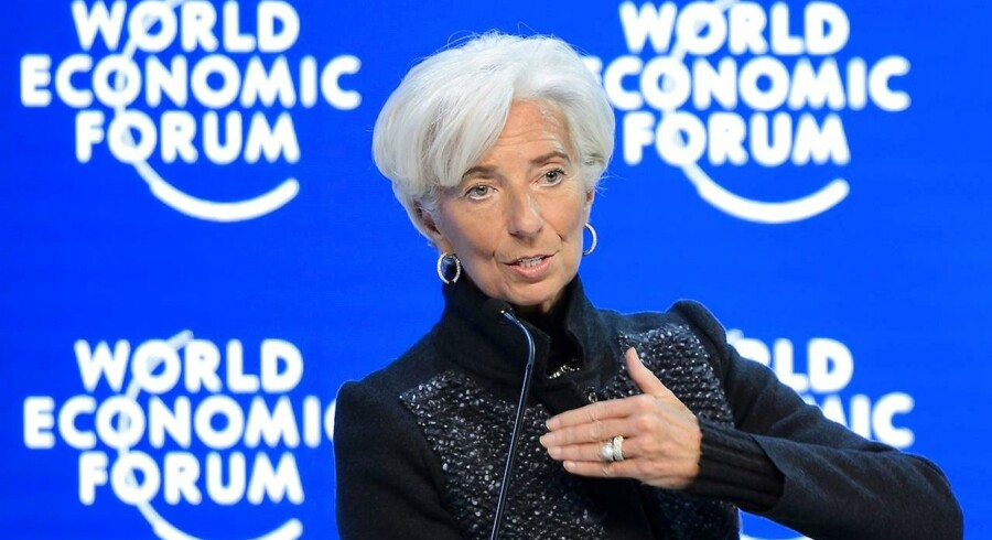 Chefen for den internationale valutafond IMF, Christine Lagarde under en session ved World Economic Forum i Davos.