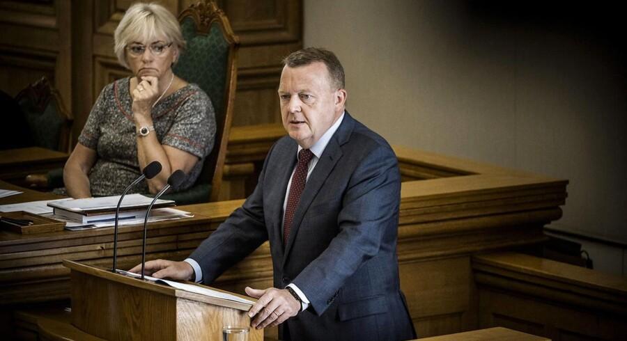 Afslutningsdebat i Folketinget. Statsminister Lars Løkke Rasmussen (V)