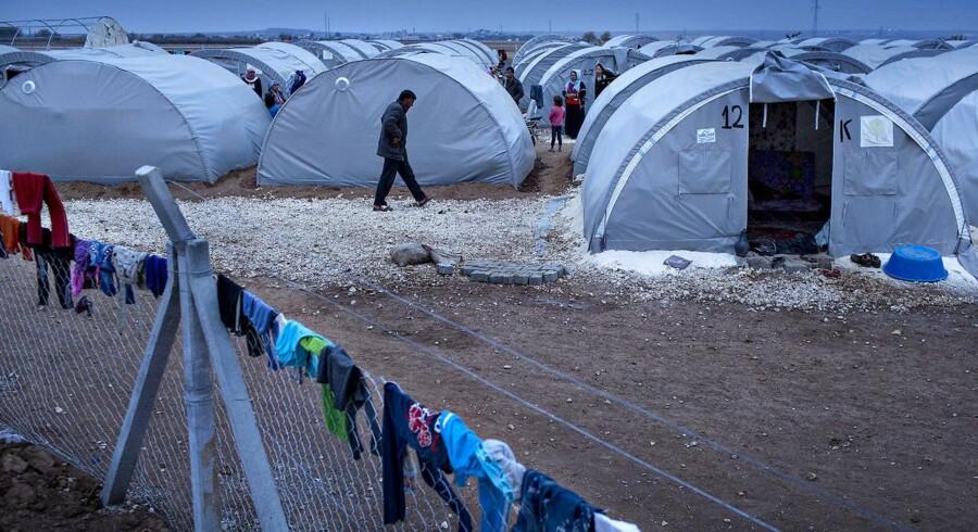 Syriske flygtninge. Den tyrkiske flygtningelejr Arin Mirkan tæt på den syriske grænse.