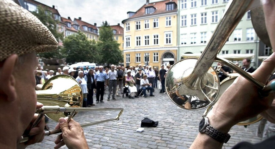 Orion Brass Band under Copenhagen Jazz Festival 2006 på Gråbrødre Torv.