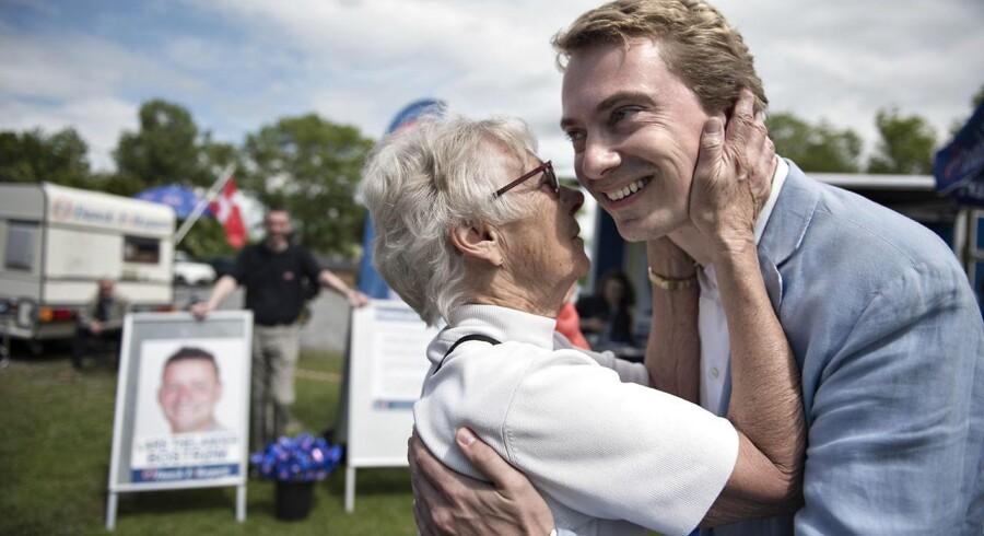 Morten Messerschmidt gjorde politisk comeback mandag, hvor han talte til et grundlovsarrangement i Frederikssund.