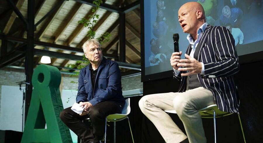 Alternativet holder landsmøde i Odense. Uffe Elbæk i samtale med Thomas Blachman. Dok5000 Odense, lørdag d. 5/5 2018.. (Foto: Carsten Bundgaard/Ritzau Scanpix)