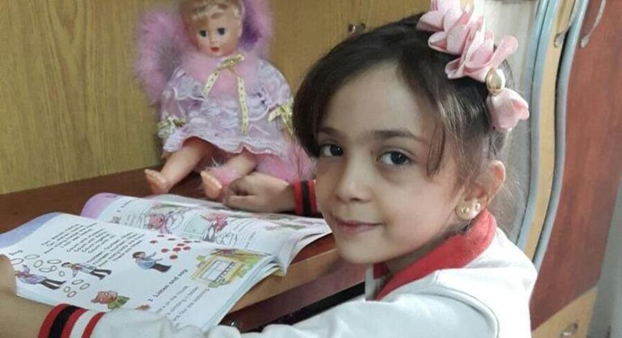 Den 7-årige Bana Alabed tweeter fra Aleppo.