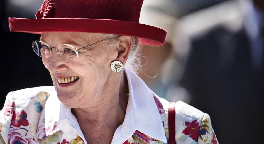 Arkivfoto fra Dronning Margrethes sommertogt i juni 2016. (Foto: Mathias Løvgreen Bojesen/Scanpix 2016)