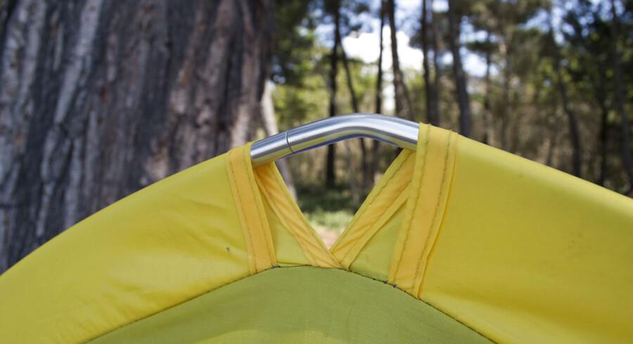 Arkivfoto: Der mange ting, man kan søge ly for i et telt. For Malcolm Applegate var det konen.