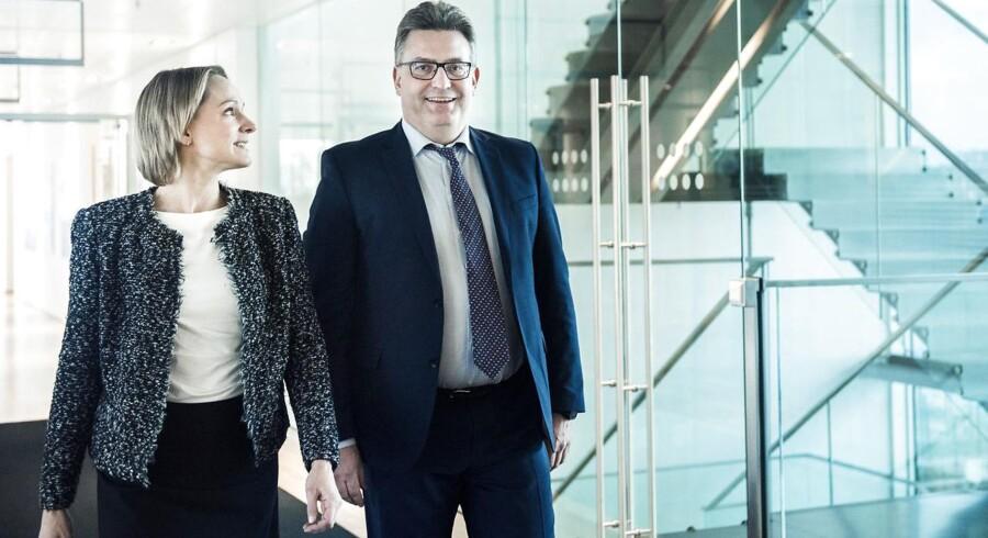 Jakob Baruël Poulsen og Christina Grumstrup, der begge er seniorpartnere i Copenhagen Infrastructure Partners, der har rejst danmarkshistoriens største fond på 26 mia. kroner.
