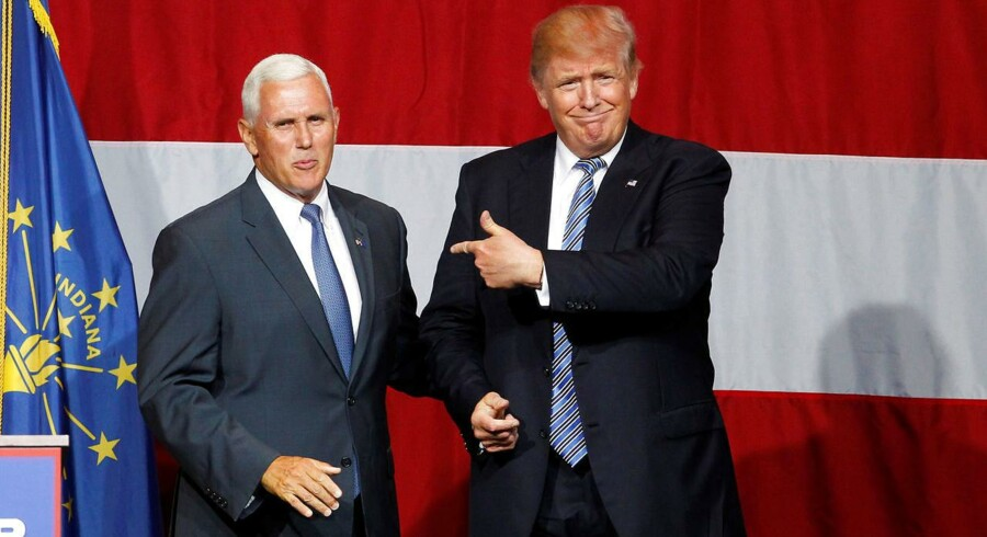 Trump med Mike Pence i Grand Park Events Center i Westfield, Indiana, 12. juli.