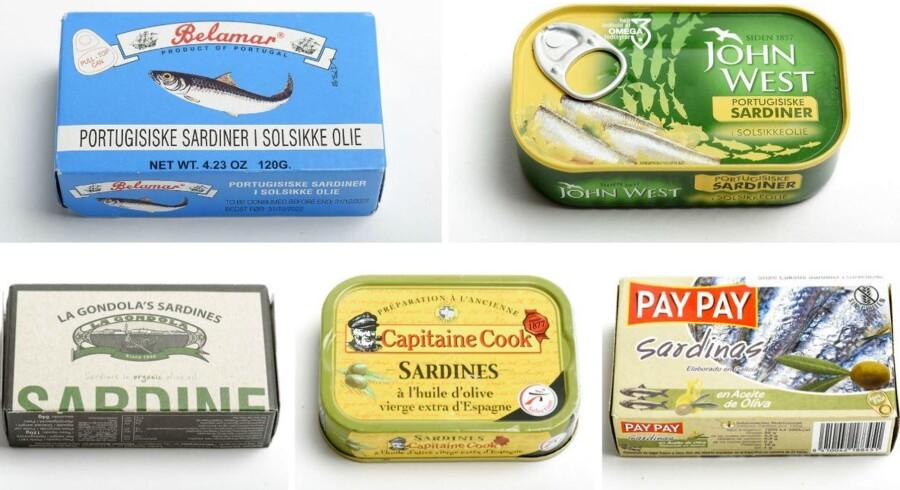 Sardiner i olie er en lækkerbisken på et stykke ristet hvedebrød eller rugbrød, hvis smagen vel at mærke er frisk og ikke fed. B Søndags smagsdommere kom gennem alt fra eddike til vandskade, da de smagte på sardiner i olie.