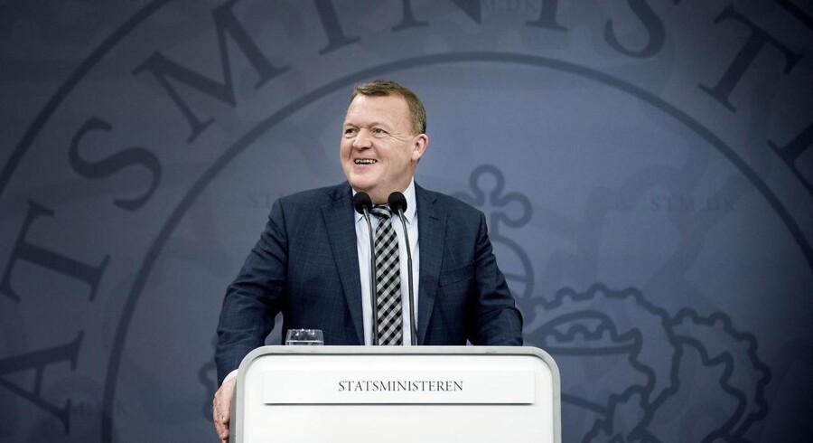 »Jeg glæder mig over, at kontanthjælpsloftet har betydet, at der er 16.700 færre på kontanthjælp,« sagde Lars Løkke Rasmussen på sit pressemøde, hvilket har fortørnet Socialdemokratiets ordfører.