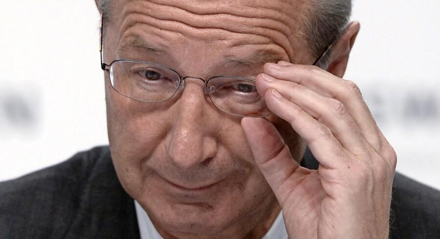Toppen af bilbranchen er ofte præget af heftige temperamenter, men det gælder ikke Volkswagens nye formand, Hans Dieter Pötsch. Han betegnes som en mere oplagt toer i hierarkiet end topchef. Foto: Nigel Treblin /Reuters
