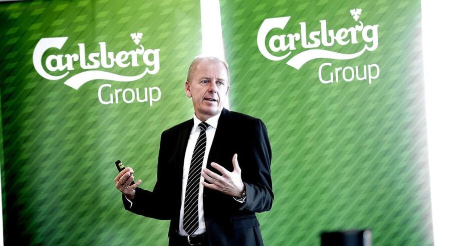 ARKIVFOTO 2014 af Carlsbergs direktør Jørgen Buhl Rasmussen- - Se RB 29/1 2015 07.03. Øl-producenten har lukket to af sine 10 bryggerier i Rusland. Lukningen koster 700 millioner i nedskrivninger. (Foto: Keld Navntoft/Scanpix 2015)
