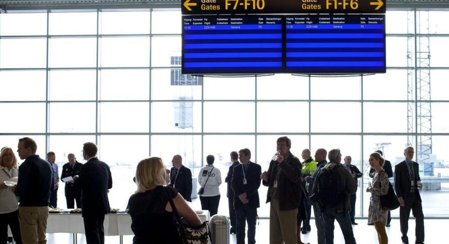 Det er ikke disse skærme, der skal skiftes indhold på i Københavns Lufthavne men derimod TV-skærmene, som medarbejdere og rejsende kan følge med på. Arkivfoto: Linda Henriksen, Scanpix
