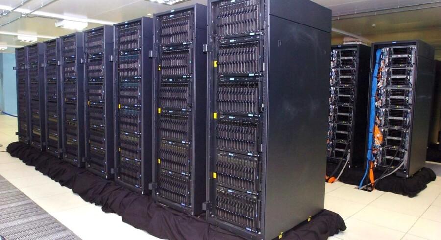 """Dette er dog ikkke Vestas nye supercomputer, men IBMs noget ældre """"Mare Nostrum""""."""