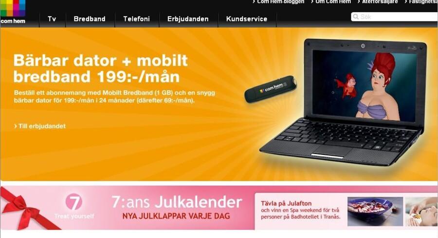 Et af Sveriges største kabel-TV-selskaber er sat til salg - af en af TDCs ejere.