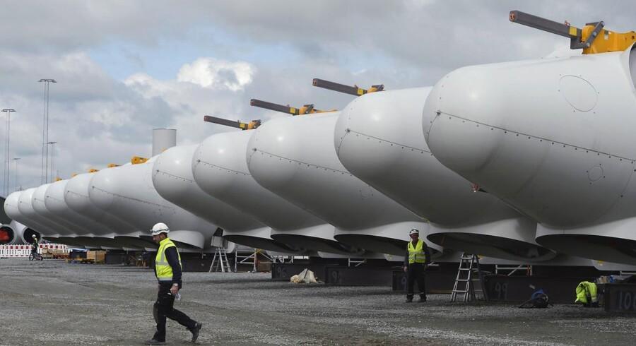 Siemens hollandske ordre vil skabe jobs i Danmark. Her ses Siemens turbiner i Esbjerg.