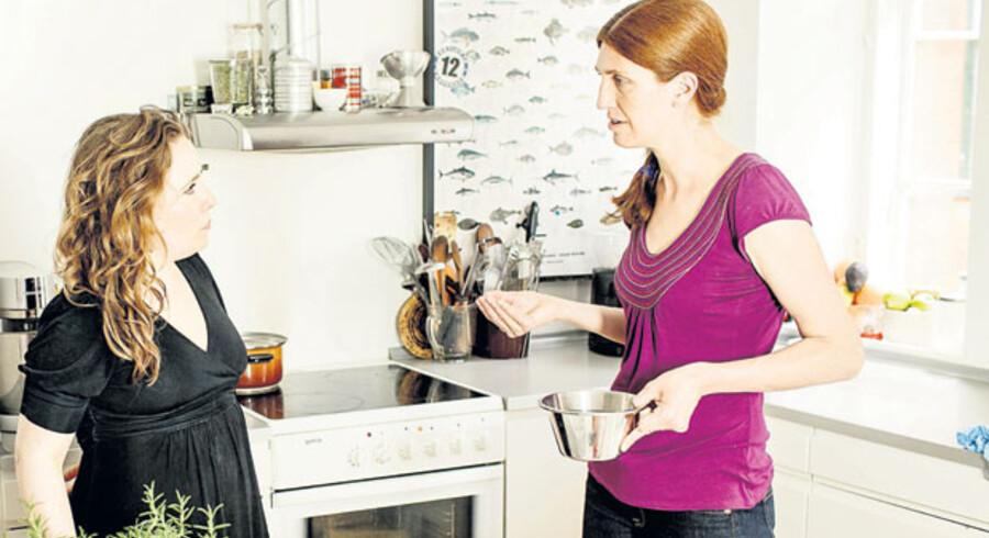 Melissa Weller er i samtalekøkkenet, hvor hun laver et New Yorker-surdejsbrød med dansk mel.