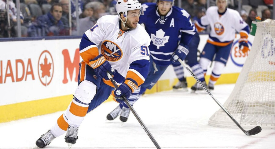 Frans Nielsen er netop skiftet fra New York Islanders (billedet) til Detroit Red Wings og det er en særdeles god forretning for danskeren.
