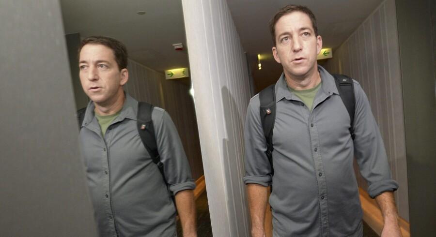 Den tidligere Guardian-journalisten Glenn Greenwald ses her i Hong Kong tidligere på året, da han mødtes med den flygtede amerikanske whistleblower Edward Snowden og fik adgang til de hemmelige efterretningsdokumenter, som Snowden har lækket. Arkivfoto: Reuters