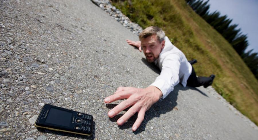 Mobilabonnementer kan snart ikke kravle højere op - lige nu er der 124,4 mobilabonnementer for hver 100 danskere. Foto: Colourbox