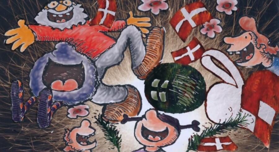 Illustration af Gunner Wille fra »Ritas jul«
