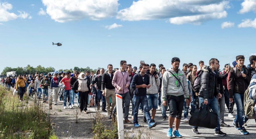 RB plus Regeringens flygtningeplan Statsminister Lars Løkke Rasmussen (V) præsenterede i sidste uge regeringens nye bidrag til at få tilstrømningen af flygtninge under kontrol i Europa. * Der afsættes 500 millioner kroner til en forstærket indsats langs Europas grænser og registreringscentre. * Der afsættes yderligere 250 millioner kroner til en forstærket indsats i nærområderne. Her er der tidligere afsat 180 millioner kroner, så det samlede beløb i år bliver 430 millioner kroner. * Herudover tilbyder Danmark frivilligt at aftage 1000 af de 120.000 flygtninge, som EU arbejder på en fordeling af.