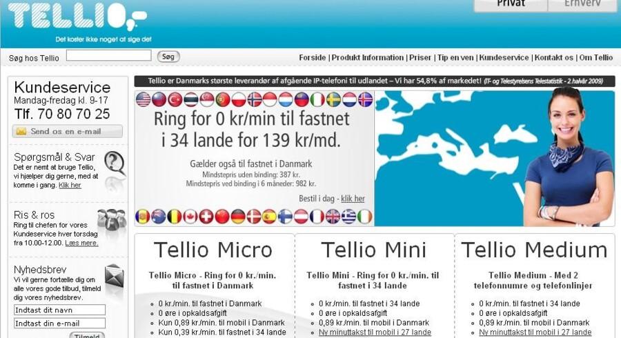 Teleselskabet Tellio er blevet meldt til politiet for vildledende markedsføring.