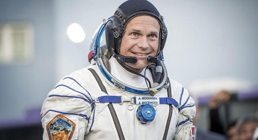 Andreas Mogensen kan snart kravle ind i rumstationen, hans arbejdsplads de næste otte dage.