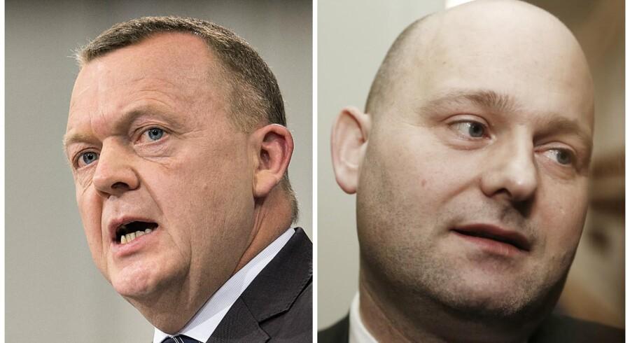 Lars Løkke Rasmussen og Søren Pape.
